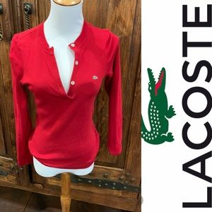 Locoste Henley 🐊 red!!!  Understated casual sexy